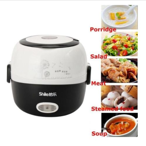 Electric Portable Lunch Box Rice Cooker Steamer Stainless