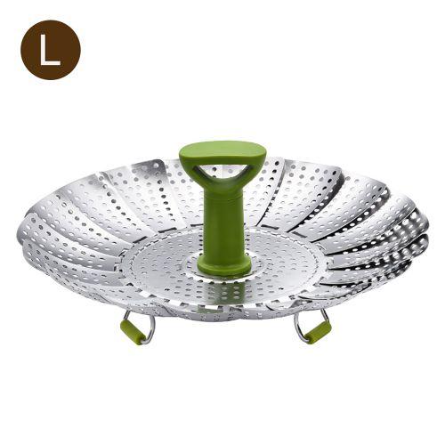 Steamer Basket Stainless Steel Vegetable Steamer Folding-L