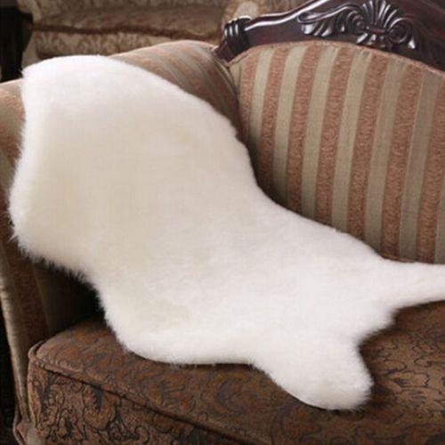 Plain Soft Fluffy Bedroom Faux Fur Single Sheepskin Rugs Washable