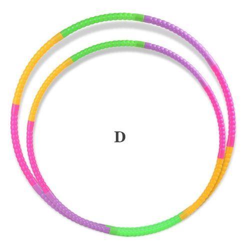 Children Hula Hoop Toys Detachable Plastic Hula Hoop As Fitness Equipment For Adults Diameter:D 40CM (80 Grams)
