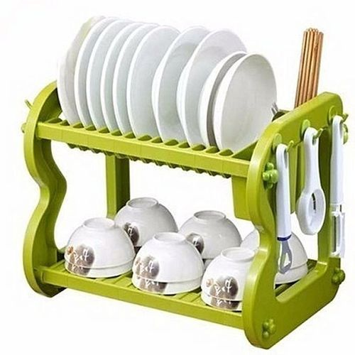Plastic 2 Layers Dish Rack And Drainer.