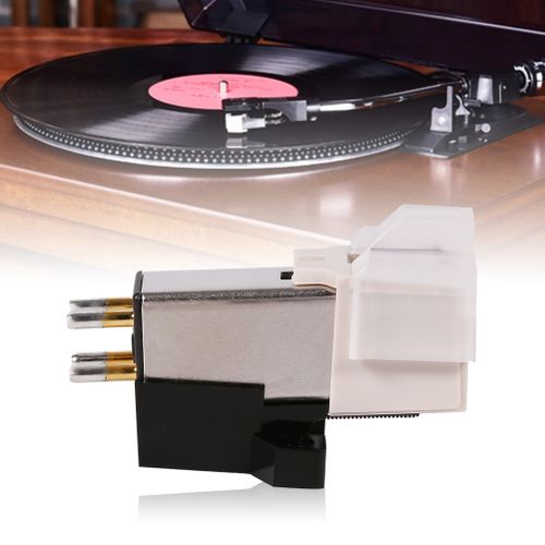 1pc Record Player Phonograph Needle Pickup Stylus Moving Magnet Cartridge With Mounting Screws