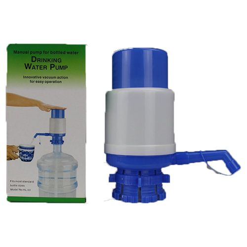 Medium Bott Water Pressure Pump Portable Hand-operated Drinker Blue&white