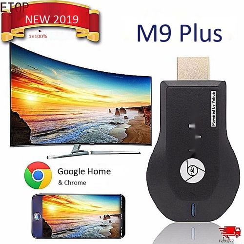 Mirascreen Miracast HDMI M9 PLUS 4K HD 2.4G/5G WiFi Dual Frequency Wireless HDMI TV Same Screen Receiver Fit For Apple Tv Android Tv Mobile Screen Cast