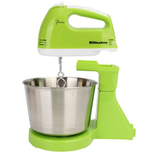 220V 7 Speed Electric Stand Mixer Hand Countertop Kitchen Homemade Cakes Muffins Green