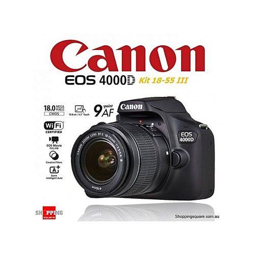 EOS 4000D DSLR With EF-S 18-55mm Lens + 8GB + Bag Free