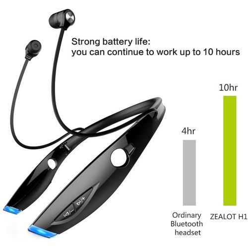 H1 Wireless Bluetooth Sports Earphones Neckband Headset In-ear Headphones Earbuds Earpiece For Sports Running Gym Exercise Multiple Functions