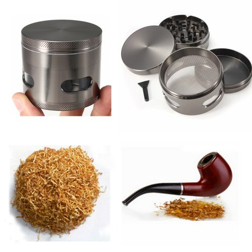 FEELMATCH Tobacco Grinder Crusher 4 Layers Parts Herbal Herb Cigar Muller Alloy
