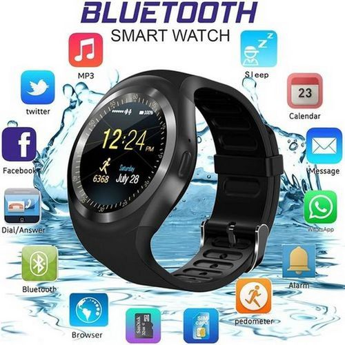 Bluetooth Y1 Smart Watch Android Phone Call SIM TF Camera