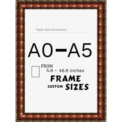 """5.8"""" - 46.8"""" Inch A0 - A5 Size Non-glass Photography Framing For Home & Office Wall Frame Hanging Picture For DIY Wedding & Birthday Gift Decor Image Frame"""