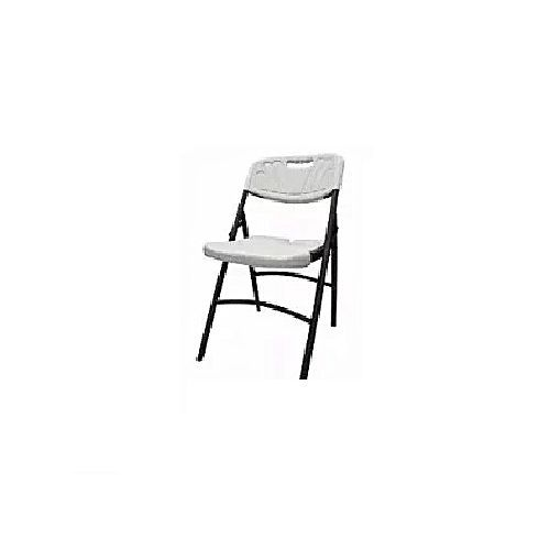 Foldable Mobile Plastic Chair White (Heavy Duty)