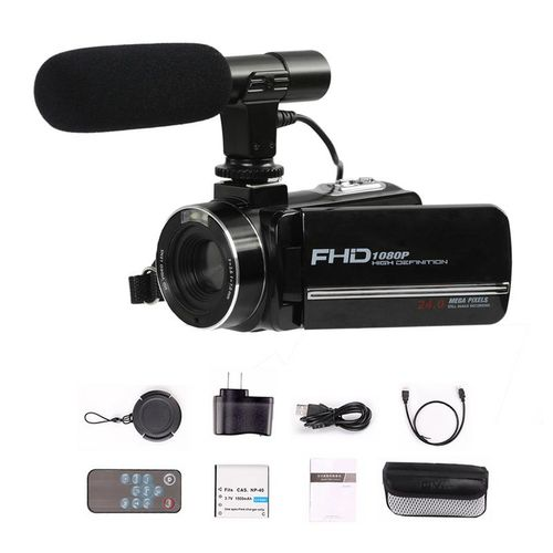 "24 Million PX Video Camera Digital 8X Zoom With WiFi Microphone 1080P HD 3"" Screen DIS Antishake For SONY CMOS Home Camcorder RELAXING"