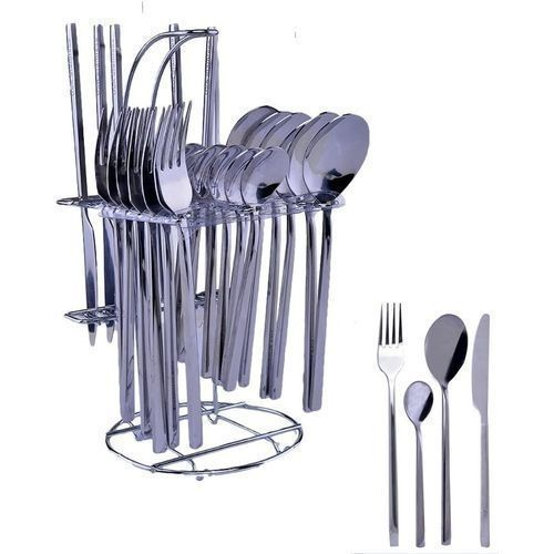 Stainless Table Spoons, Knives And Forks 24Pcs Cutlery Set