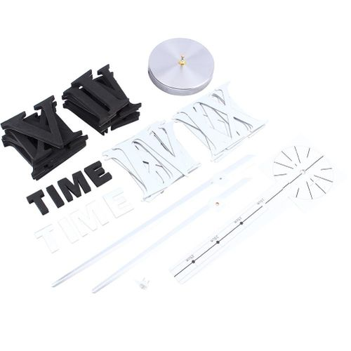 Modern DIY Large Wall Clock Kit 3D Mirror Surface Sticker For Home Office Room