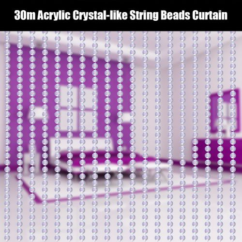 30m Acrylic Crystal-like String Beads Curtain Wedding/Birthday/Party Decorations DIY Crafts