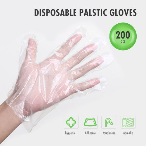 200PCS/100 Pairs Food PE Gloves Disposable Gloves For