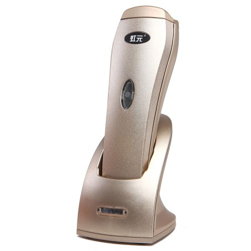 HY - 7200W 2.4GHz Wireless Handhold Laser Paper Barcode Scanner - Gold