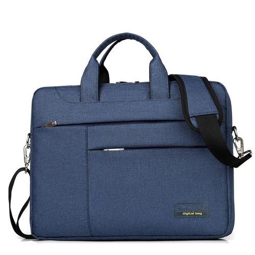 Men Nylon Waterproof Strap Laptop Bags For Xiaomi Asus Dell Lenovo 13 14 15 13.3 15.6 Inch Sleeve Handbag Shoulder Computer Bag(13 Inch)(blue)