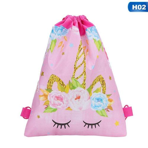 Benhongszy 2Pcs Unicorn Gift Bag Drawstring Bag Children's Day,Birthday Party Supplies Wedding Favors Candy Packing