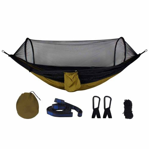 Automatic Speed Open Mosquito Net Hammock Outdoor Camping Black Mesh