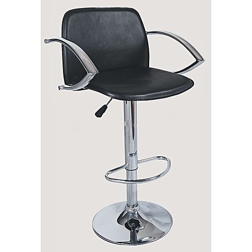 Bar Stool With Arm Rest- Black