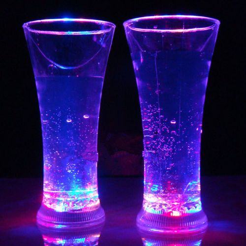 Colorful LED Glowing Cup Flash Water Induction Light Drinking Wine Glasses