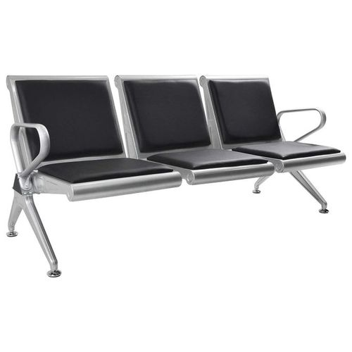 3-Seat Airport Reception Waiting Room Chair With PU Leather