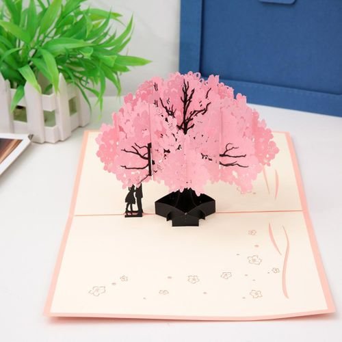 1pcs 3D Greeting Cards With Envelope Laser Cut Post Card For Birthday Christmas Valentine' Day Party Wedding Decoration