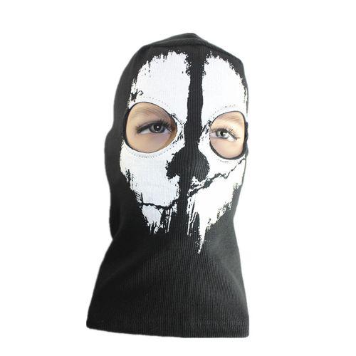Ghost Skull Mask Full Face Skeleton Hood Balaclava Biker