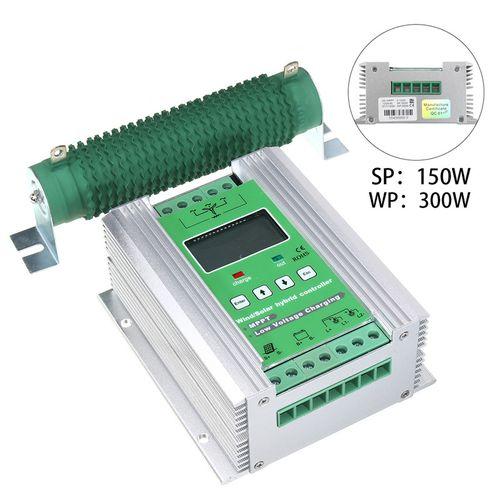12V 24V Boost MPPT 600W Wind + 300W Solar Panel Hybrid Controller Regulator LCD