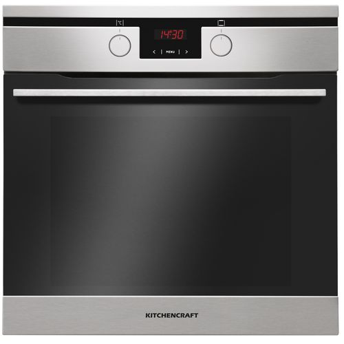 60cm Built In Electric Oven Silver - Illuminated Knobs -Smart Series - Boi622