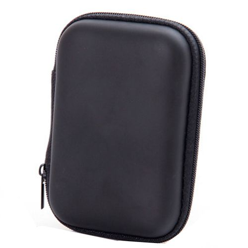 External Storage USB Hard Drive Disk HDD Carry Case Cover Multifunction Cable - Black