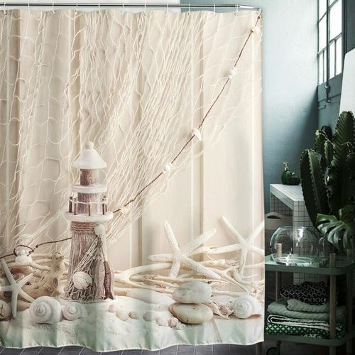 Waterproof Mildew Shower Curtain 3D Digital Oil Painting Printing 180x180cm