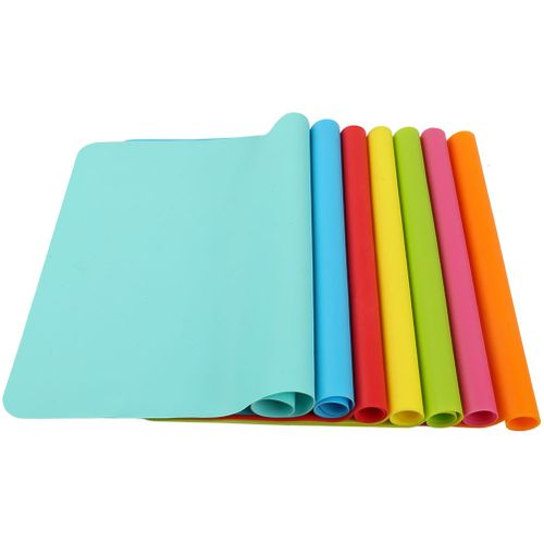 Rectangle Heat Resistant Silicone Mat For Dishes Or Bowls Kitchen Tool Tableware Pad