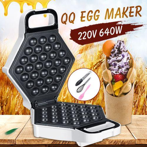 640W Electric Nonstick QQ Egg Maker Oven Waffle Eggettes Baker Machine Tool Set