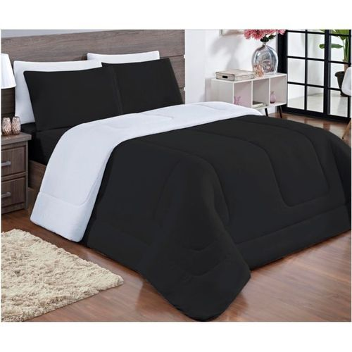 American Plain Quality Cotton Duvet And Bedsheet+Pillow C..