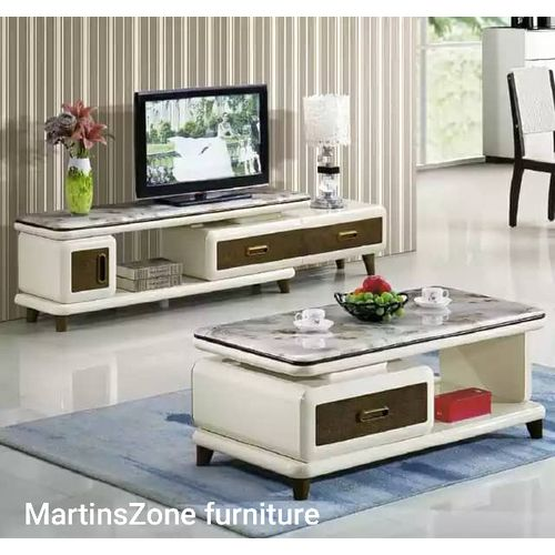 Modern Entertainment Console With Center Table