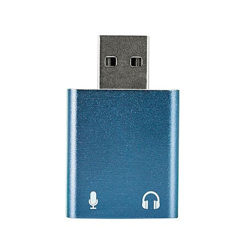 4 Color USB Sound Card 3.5mm Headphone Adapter Audio For Win