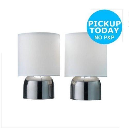 Sainsbury Home Touch Sensor Table Lamp Pair