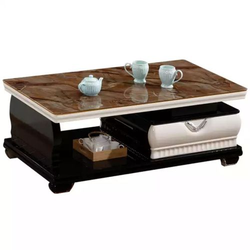 New Age Glass Coffee Table With Drawers