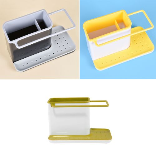 Kitchen Drainer Rack Box Water Sink Sponge Towel Cloth Drain Holder