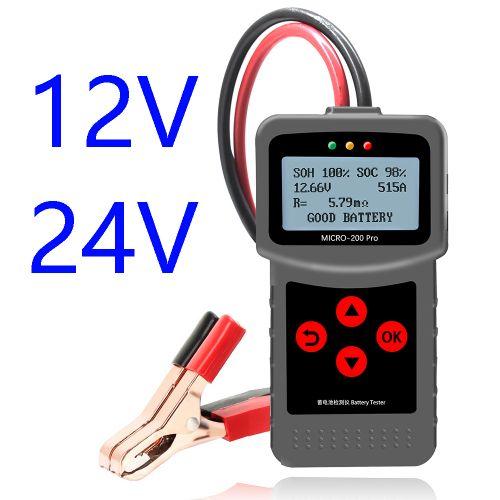 LANCOL Micro 200 Pro 24V Car Battery Tester Digital Battery Analyzer JIS SAE EN 12V Car Battery Tester