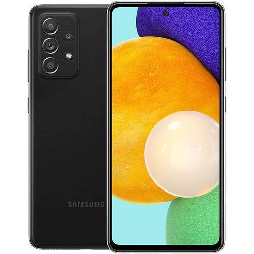 "Galaxy A52, 6.5"" (6GB. 128GB ROM) Android 11 (64/12/5/5)MP + 32MP Selfie, 4500mAh - Dual Hybrid - 4G LTE - Awesome Black"