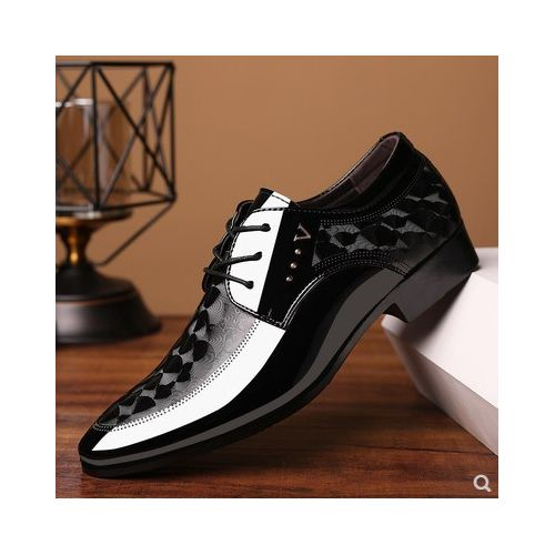 Mens Business Shoes Soft Leather Shoes Black