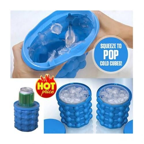 Ice Cube Maker Genie - Silicone Ice Bucket