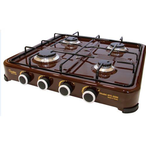 4-Burner Table-Top Gas Cooker- Black