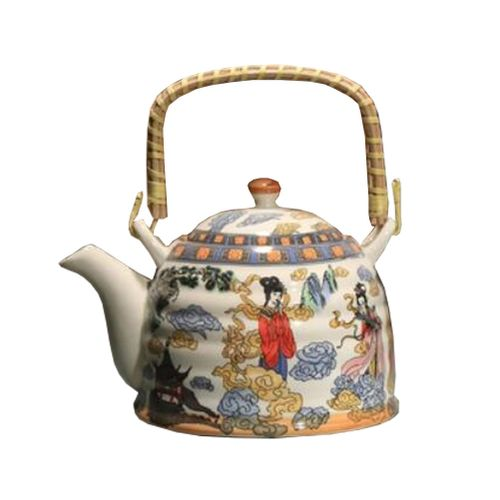 Japanese Style Porcelain Teapot Ceramic 900ml, Seven Fairies