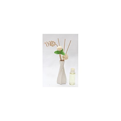 DIFFUSER WITH FLOWER REED- WHITE