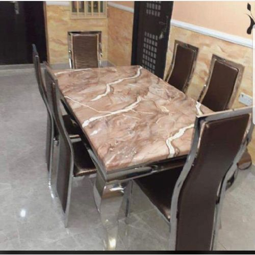 Elegant Dinning Table With 6 Chairs(Lagos Ogun Delivery)
