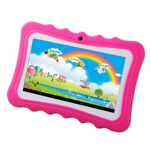 "7"" Portable HD Kids Tablet - Upgrade Learning Pad With Kid-proof Silicone (Quad Core, 8GB, Wifi & Bluetooth, Front & Rear Camera, Playstore, Youtube, Google, Twitter, IWAWA)"